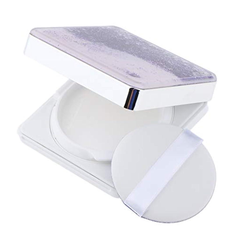 高架アリ長々とB Blesiya エアクッションケース パフ 空ケース DIY コスメ 旅行小物 3色選べ - 紫