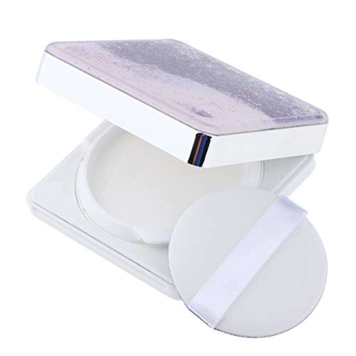 B Blesiya エアクッションケース パフ 空ケース DIY コスメ 旅行小物 3色選べ - 紫