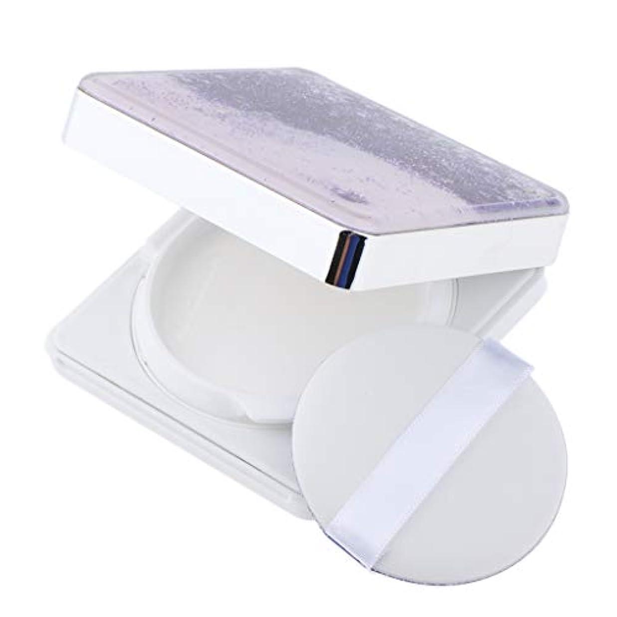 九月歯痛依存するB Blesiya エアクッションケース パフ 空ケース DIY コスメ 旅行小物 3色選べ - 紫