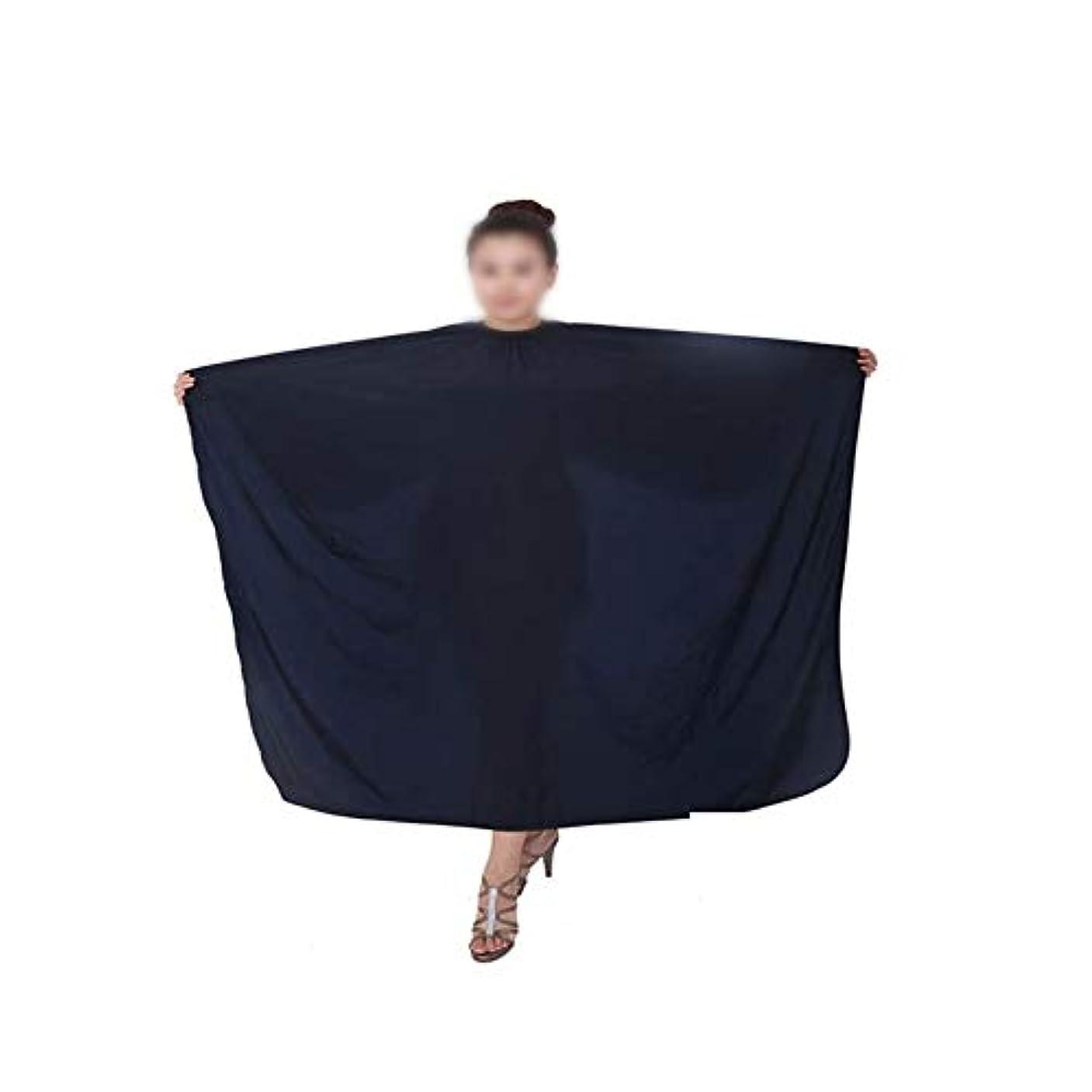フォロー寛大な娯楽3個の理髪師の防水ケープ布サロンヘアカッティングガウンのセット モデリングツール (色 : 黒)