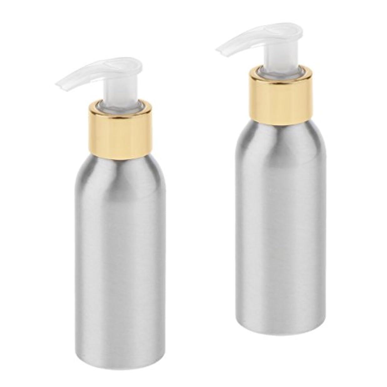 荒廃する気怠いハードウェアSharplace ポンプボトル スプレーボトル 噴霧器 アルミボトル 旅行 出張 用品 詰替え 化粧品 2本入り 全6サイズ - 120ml