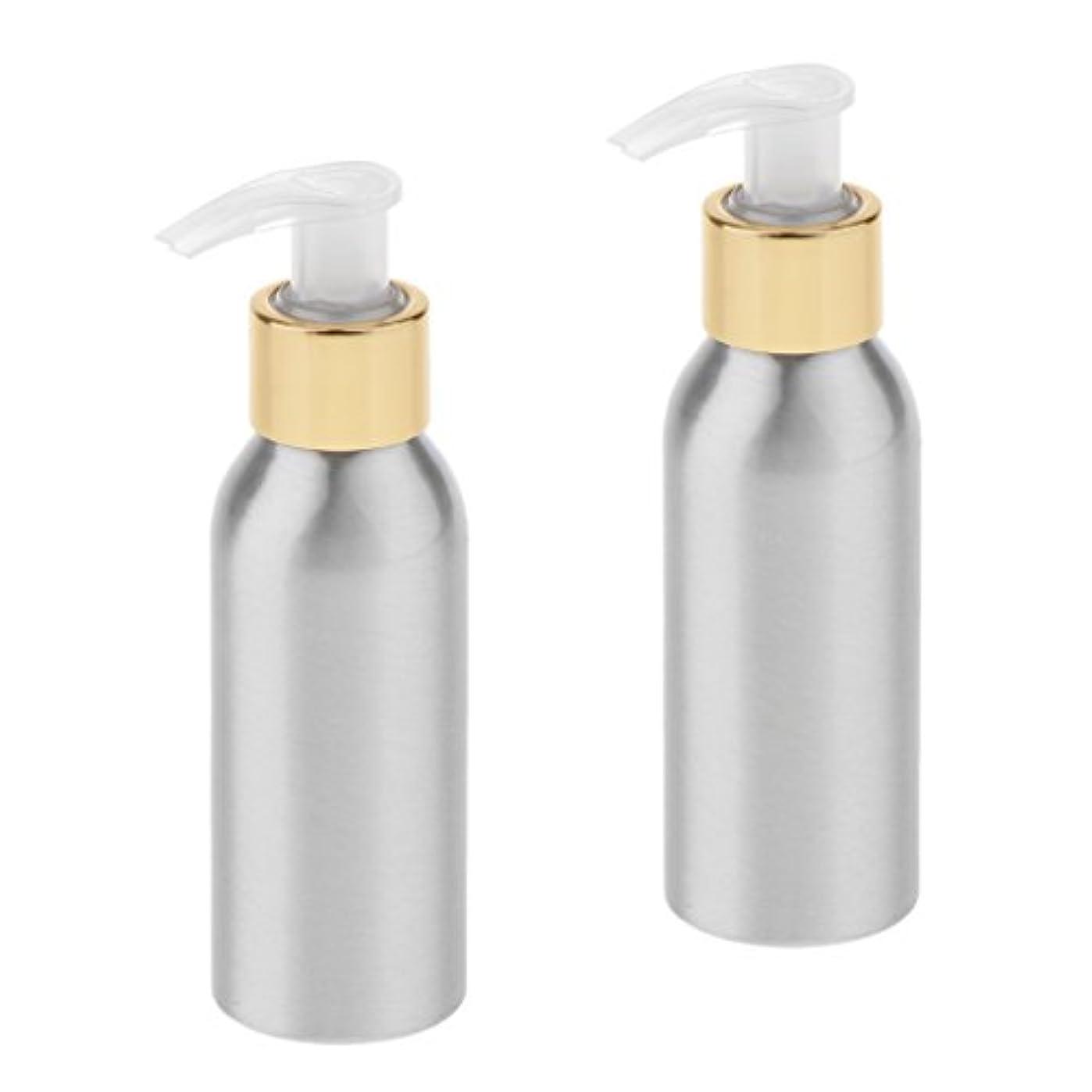 ニッケルセール無駄にSharplace ポンプボトル スプレーボトル 噴霧器 アルミボトル 旅行 出張 用品 詰替え 化粧品 2本入り 全6サイズ - 120ml