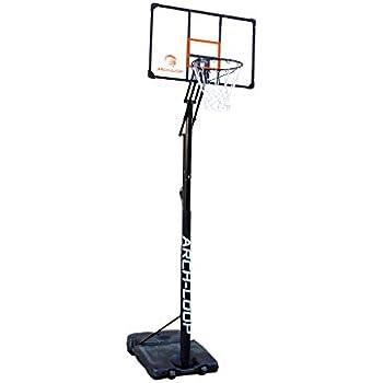 アーチループ(ARCH-LOOP) バスケットゴール アクリルボード 一般 ミニバス 対応 アクショングリップ式高さ調節 オレンジ ALG007 44993Y