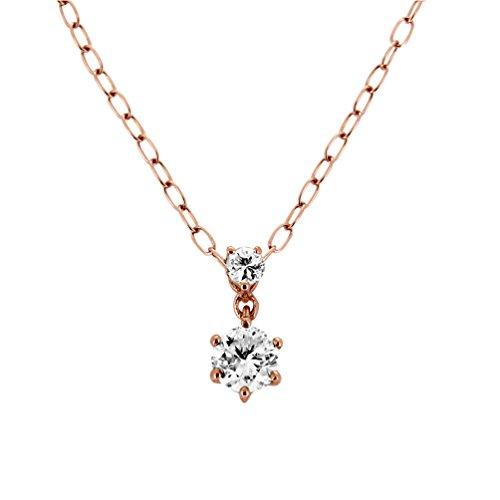 [キャーロ ディ ディアマンテ] CHIARO DI DIAMANTE K10ピンクゴールド ダイヤモンド スウィング ペンダントネックレス CHD0044