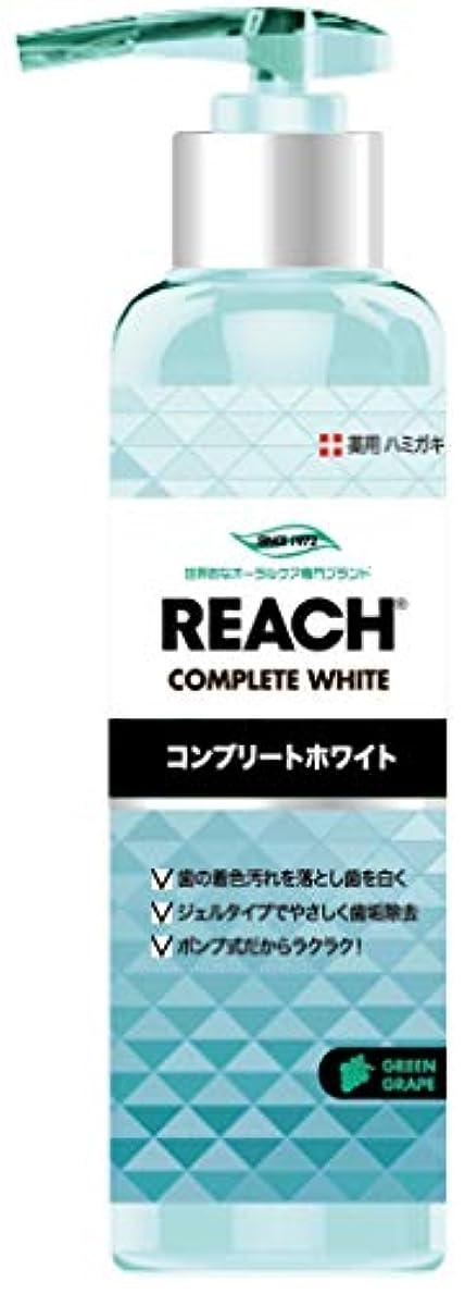 シェード満たすドレインREACH リーチ 歯みがき ポンプタイプ グリーングレープの香り180G×6点