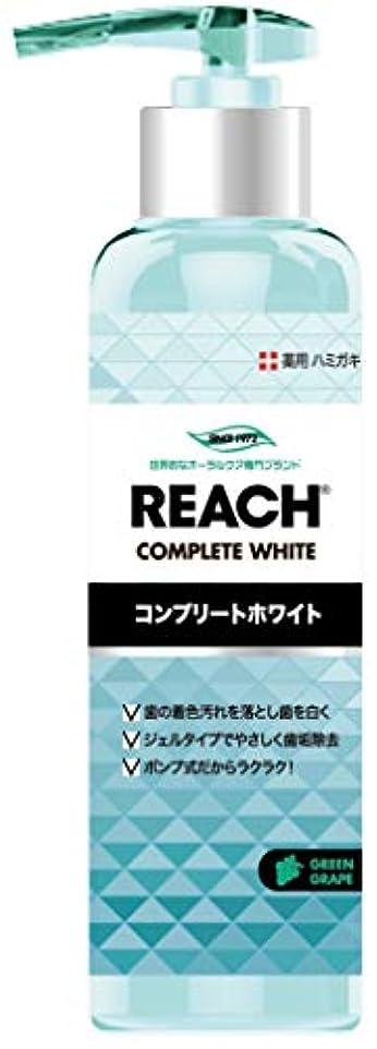 やりがいのあるスクリーチクラックREACH リーチ 歯みがき ポンプタイプ グリーングレープの香り180G×6点