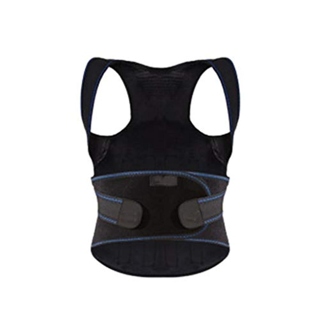背中の痛み、男性と女性、大人の子供たちのための姿勢矯正、最適に完全に調整可能なサポート、改善された姿勢と腰椎サポート (Color : Blue, Size : M)