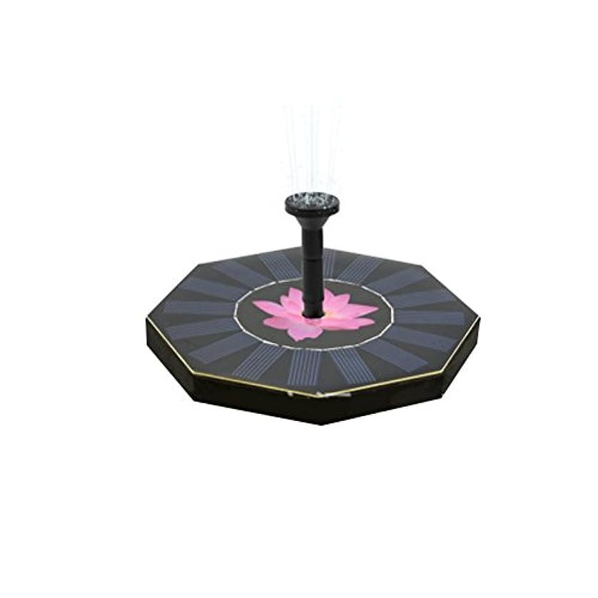 彫刻民間人制裁OUNONA 噴水ポンプ ポンプ ソーラー パネル 省エネ 噴水 庭 池 ガーデン 芝生 LEDライト付き 1.4w 最大流量200L/h