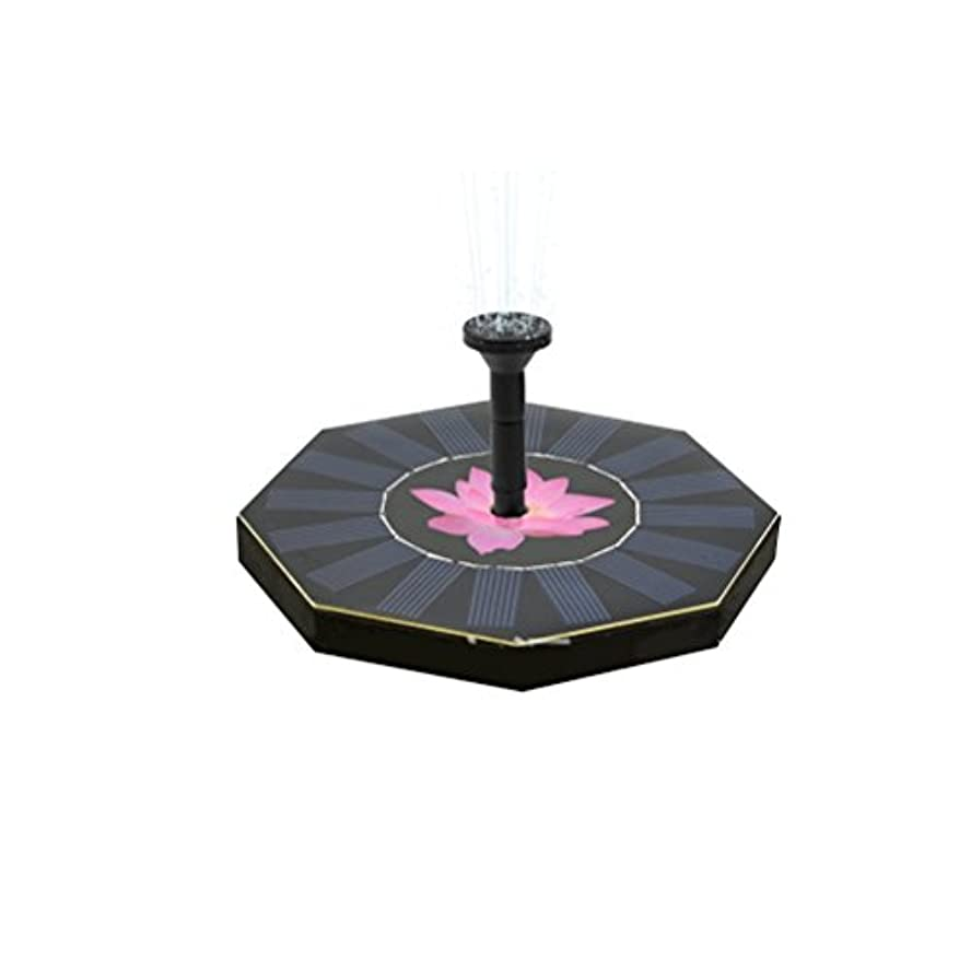 スイッチ悪質な罹患率OUNONA 噴水ポンプ ポンプ ソーラー パネル 省エネ 噴水 庭 池 ガーデン 芝生 LEDライト付き 1.4w 最大流量200L/h