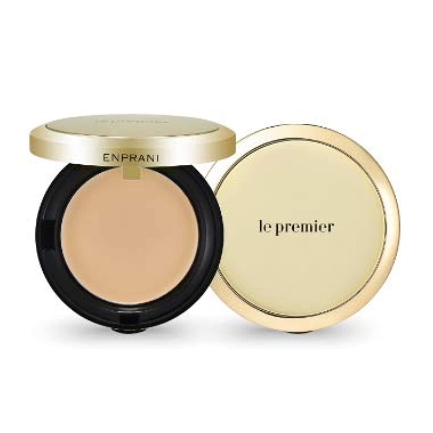 フレキシブル植物学お酢ENPRANI Le Premier Skin Cover Pact #21 Light Beige エンプラニ ル プレミア スキン カバー パクト [並行輸入品]