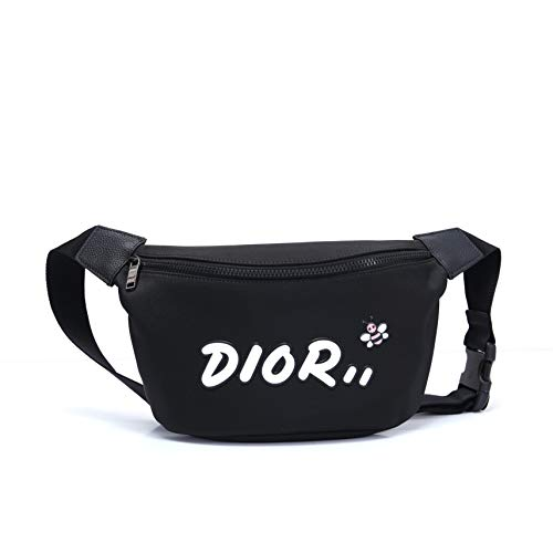 Dior(ディオール) ウェストポーチ ミニバッグ ナイロン ベルト DIOR X KAWS (ブラックXホワイト) [並行輸入品]