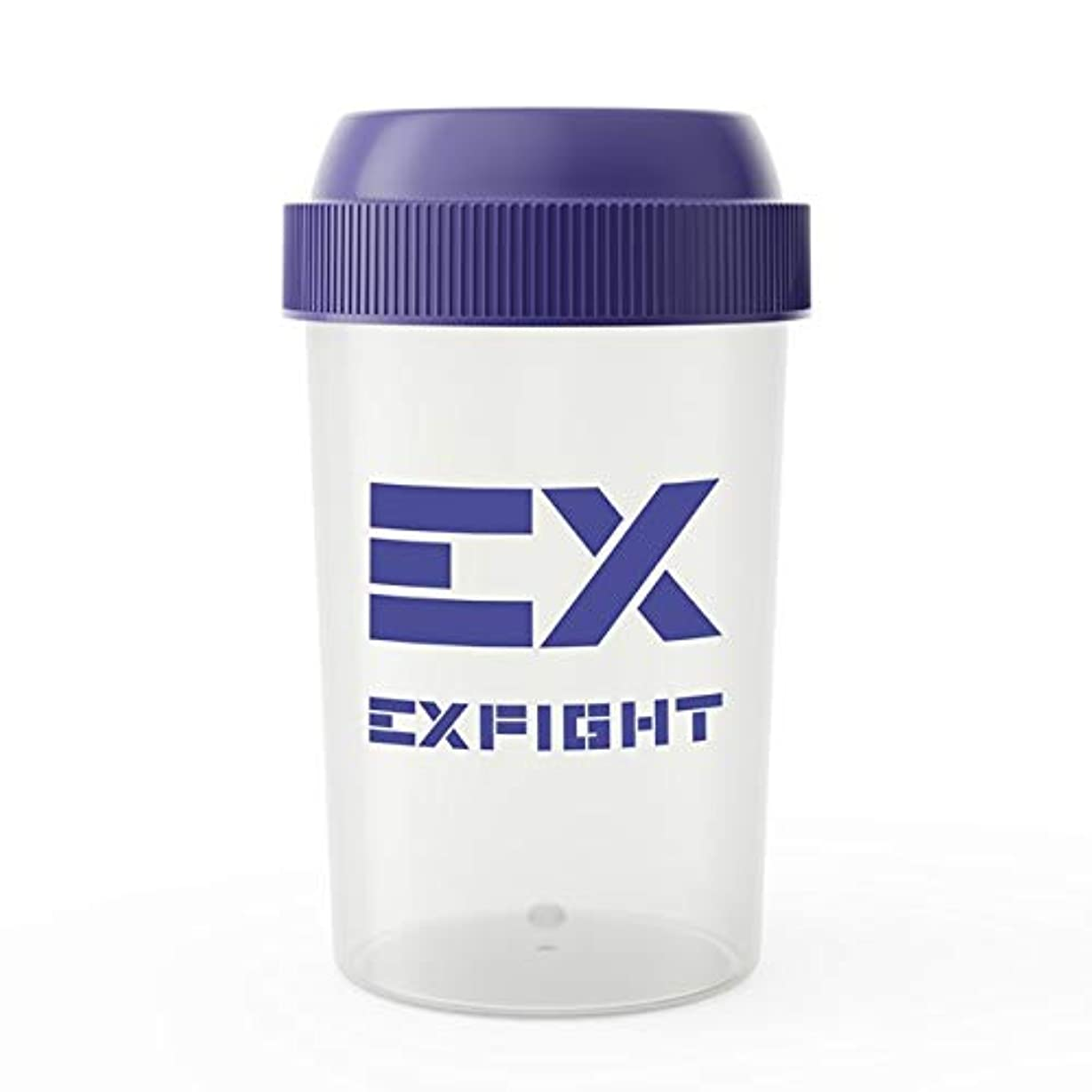 梨お尻勇敢なEX-SHAKER シェイカーボトル ブルー 300ml(エクスサプリ EXSUPPLI シェーカー EXILE サプリ)