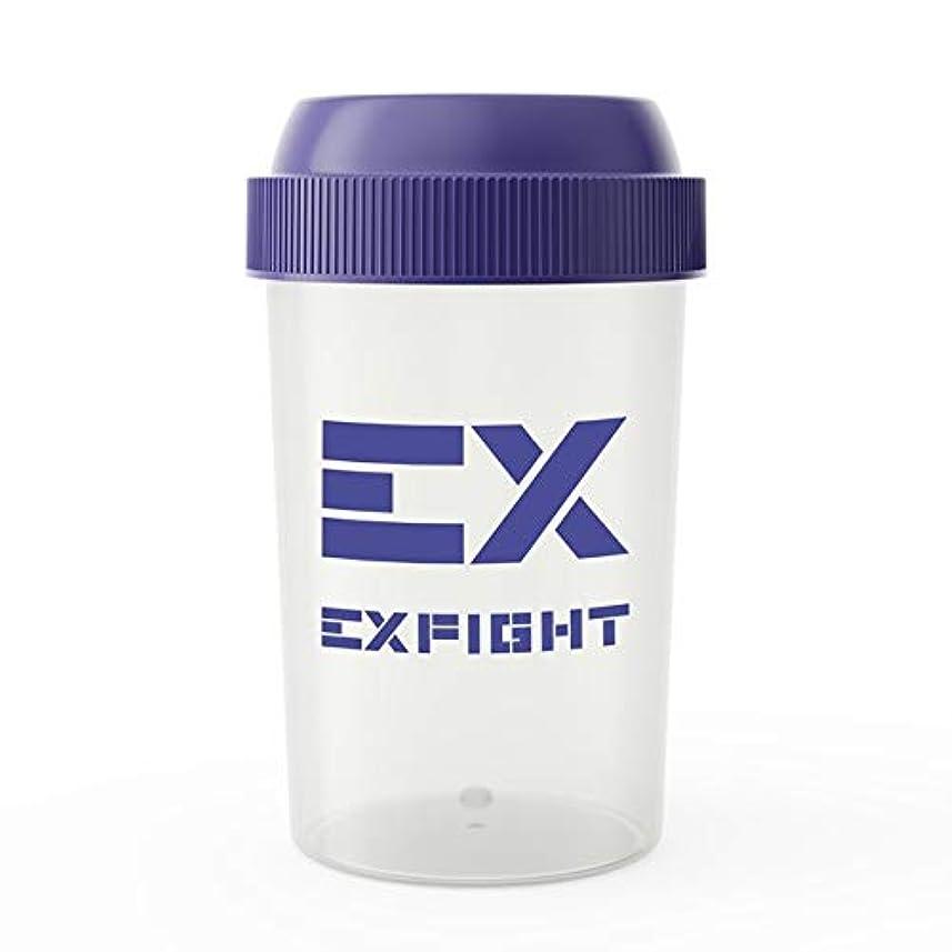 本物のルー壊滅的なEX-SHAKER シェイカーボトル ブルー 300ml(エクスサプリ EXSUPPLI シェーカー EXILE サプリ)