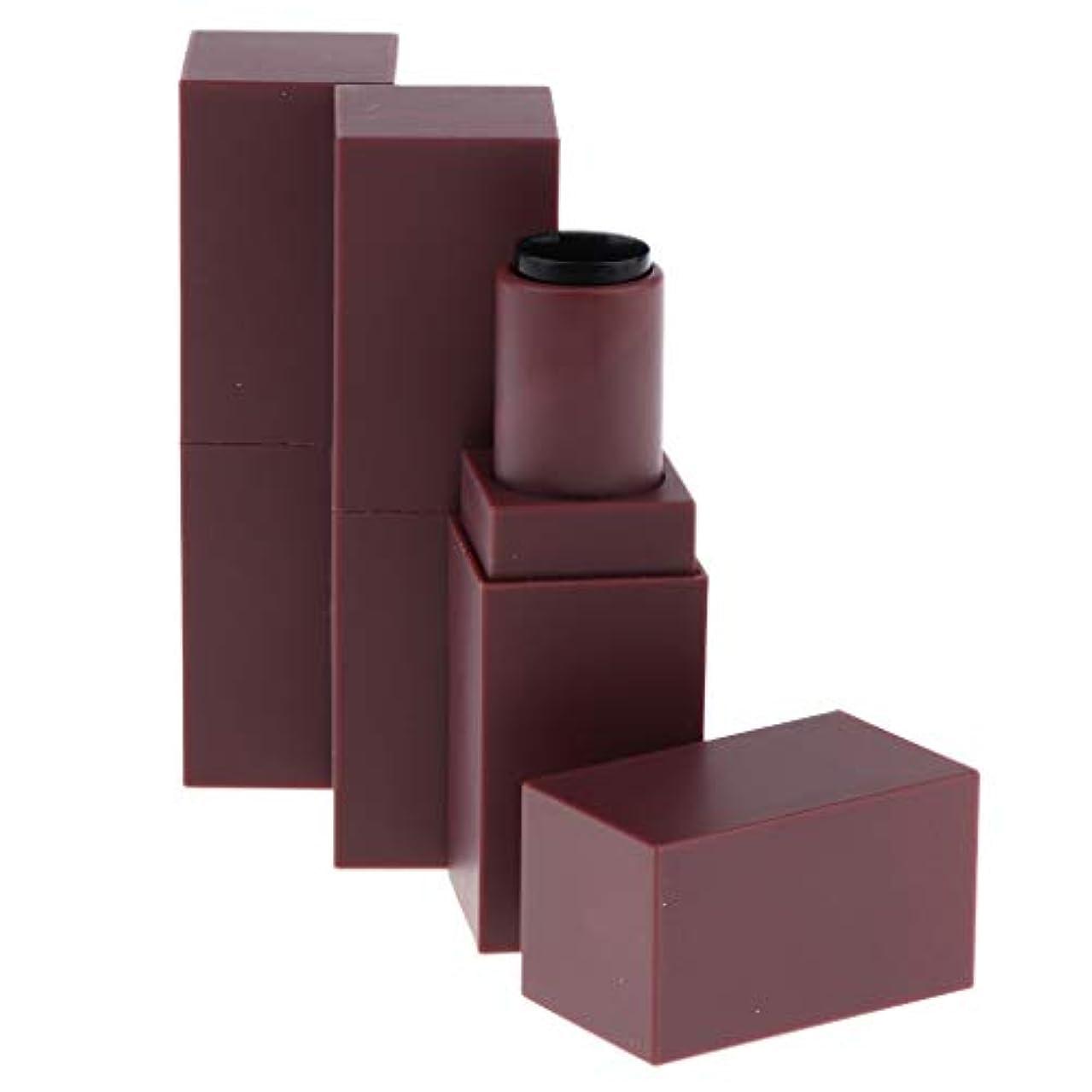 廃棄振幅著作権DYNWAVE 12.1ミリメートル空の手作り口紅チューブリップクリームボトルコンテナ - 褐色