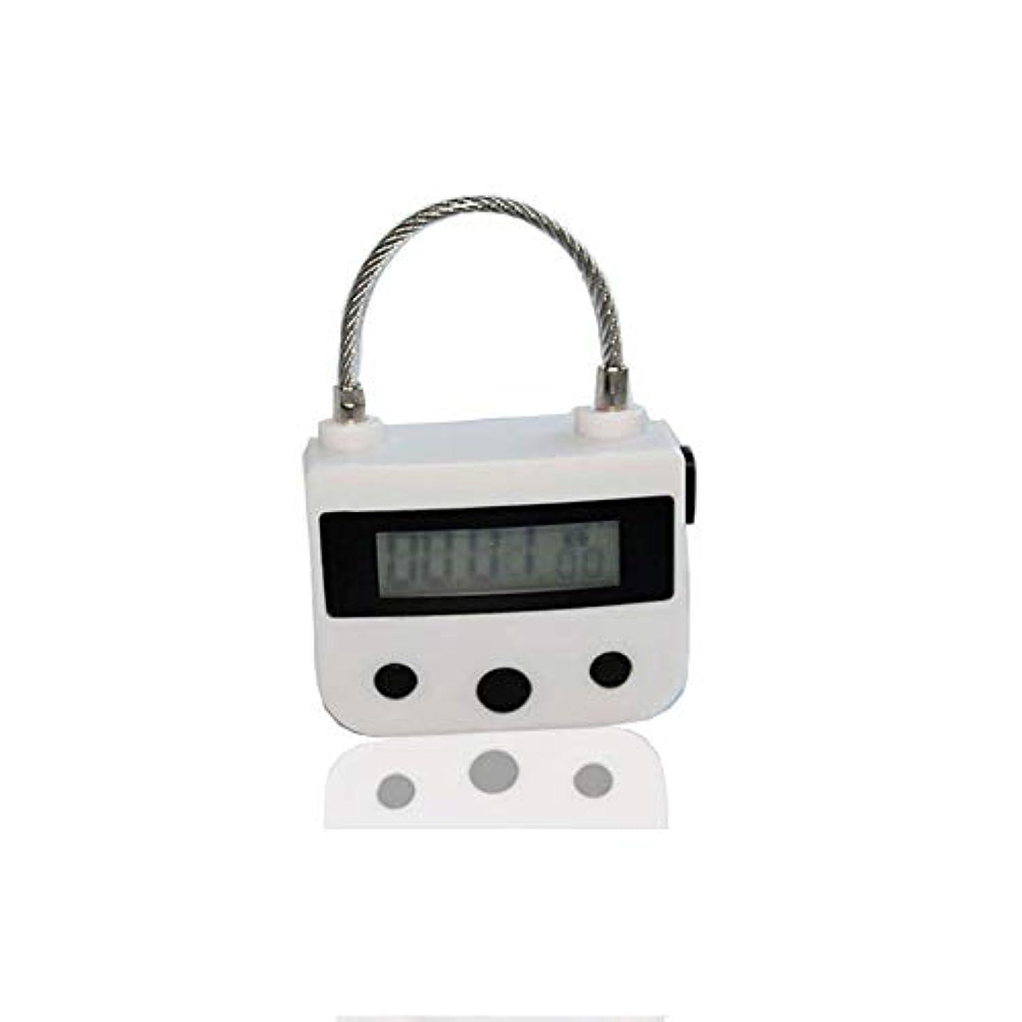 ダブル絶対の雪の電気マッサージ器A、タイマー南京錠USB充電式マッサージマニュアルAインパクト、電子タイマー時限ロックマルチファンクションロックはLCDディスプレイと一緒に旅行をダウンロード,白