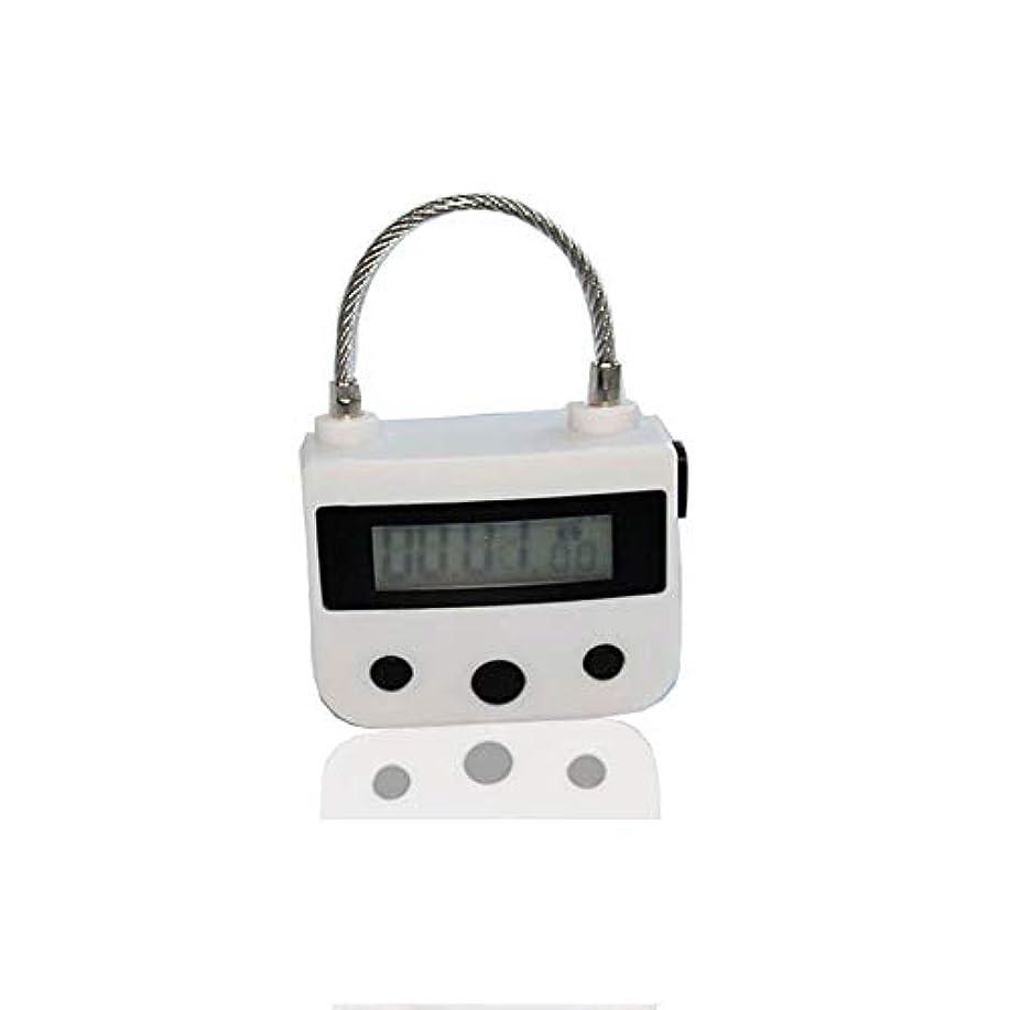 グラマータウポ湖ピュー電気マッサージ器A、タイマー南京錠USB充電式マッサージマニュアルAインパクト、電子タイマー時限ロックマルチファンクションロックはLCDディスプレイと一緒に旅行をダウンロード,白