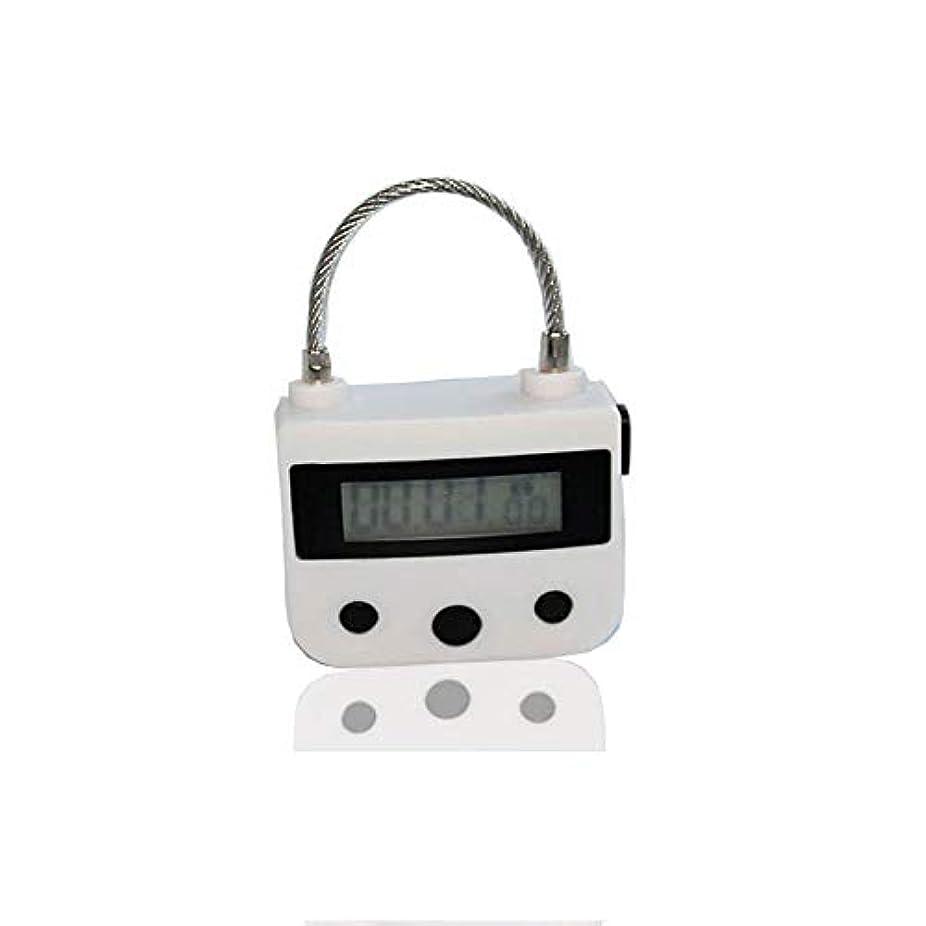 調整可能印刷する飼い慣らす電気マッサージ器A、タイマー南京錠USB充電式マッサージマニュアルAインパクト、電子タイマー時限ロックマルチファンクションロックはLCDディスプレイと一緒に旅行をダウンロード,白