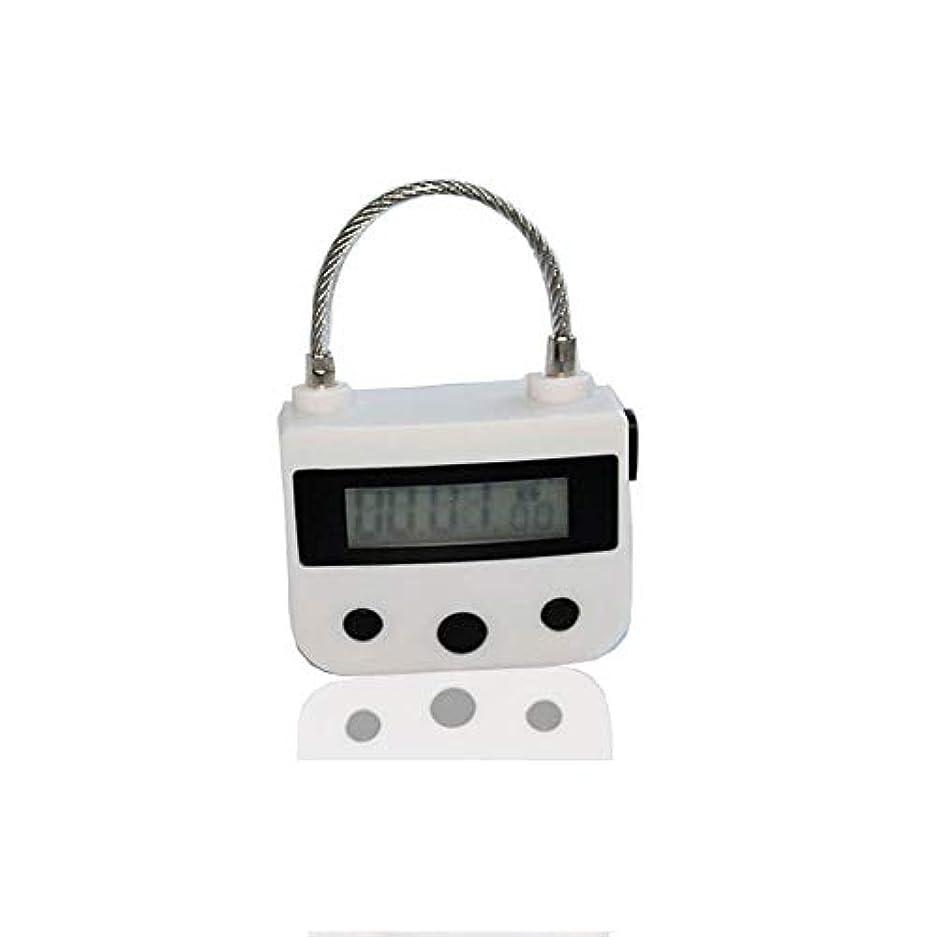 腸強盗メロディアス電気マッサージ器A、タイマー南京錠USB充電式マッサージマニュアルAインパクト、電子タイマー時限ロックマルチファンクションロックはLCDディスプレイと一緒に旅行をダウンロード,白