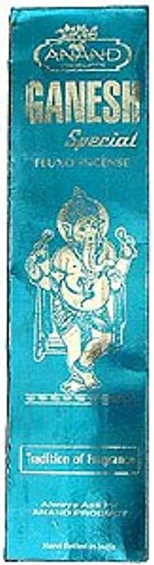 人類商標シチリアAnand Ganesh特別なfluxo incense – 25グラムパッケージ – エキゾチックインドからIncense