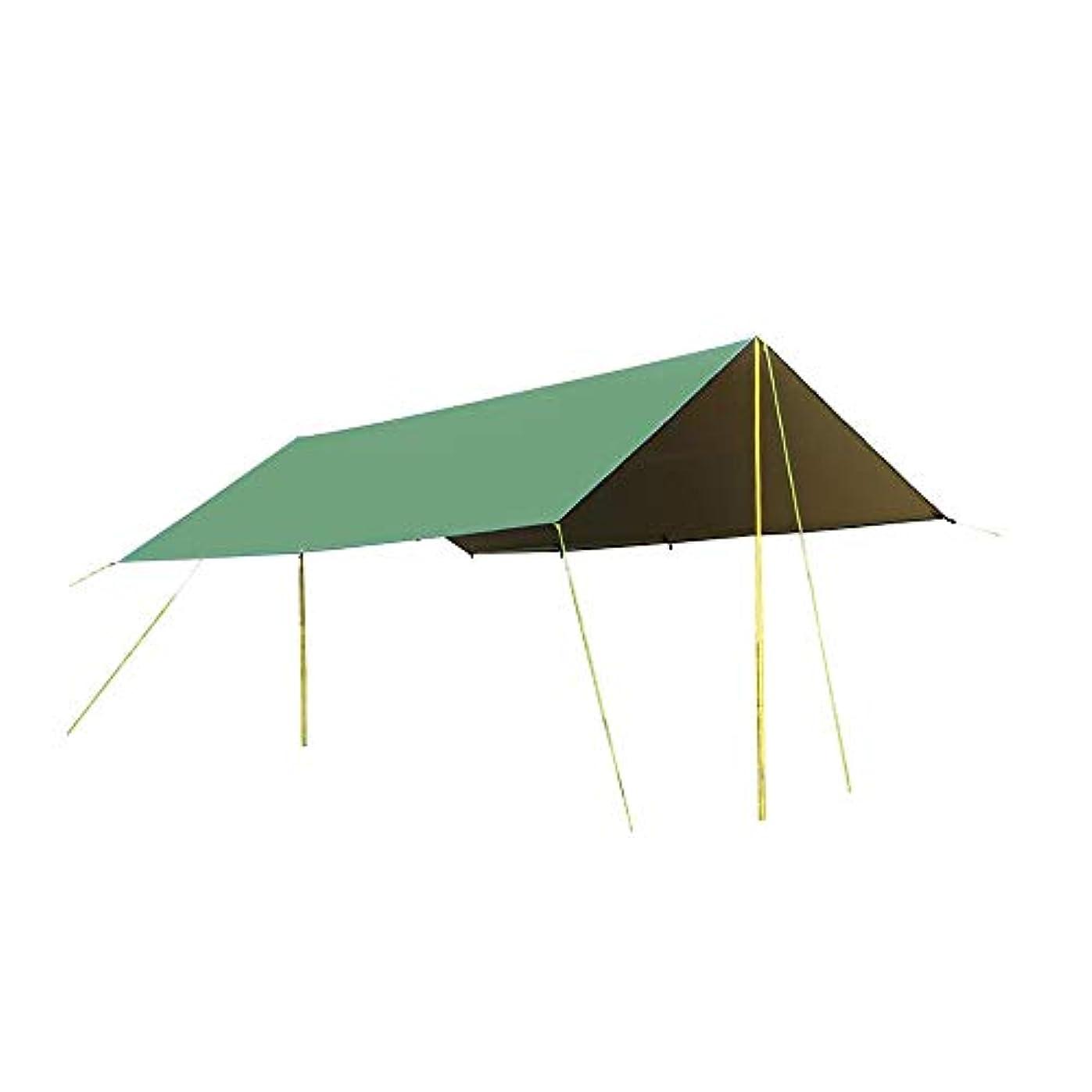 組ブリーフケースブラケットXIAOLIN 軽量防水レインタープカバーテントシェルター用キャンプアウトドア旅行キャンプ釣り日焼け止めオーニング (色 : 緑, サイズ さいず : 5x3m)