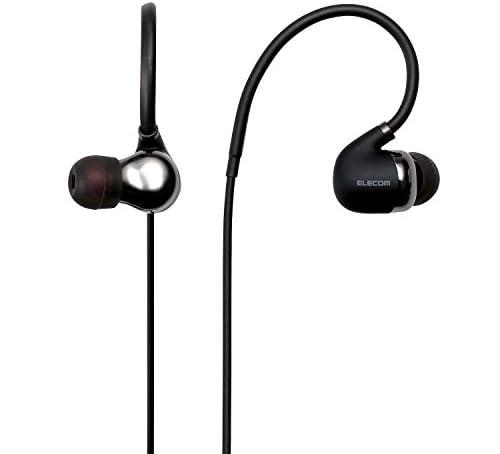 エレコム Bluetooth ブルートゥース イヤホン ワイヤレス aptX対応 高音質 通話対応 シュア掛け PureSound 1年間保証 ブラック LBT-HPC50MPBK