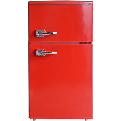 タンスのゲン レトロ 冷蔵庫 85L 右開き 2ドア [ 冷凍室 25L + 冷蔵室 60L ] 耐熱天板 冷凍冷蔵庫 コンパクト メーカー1年保証 Elec-diamond レッド 43000040 03