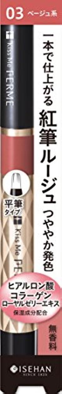 食料品店忌避剤ペルーフェルム 紅筆リキッドルージュ03 健康的なベージュ
