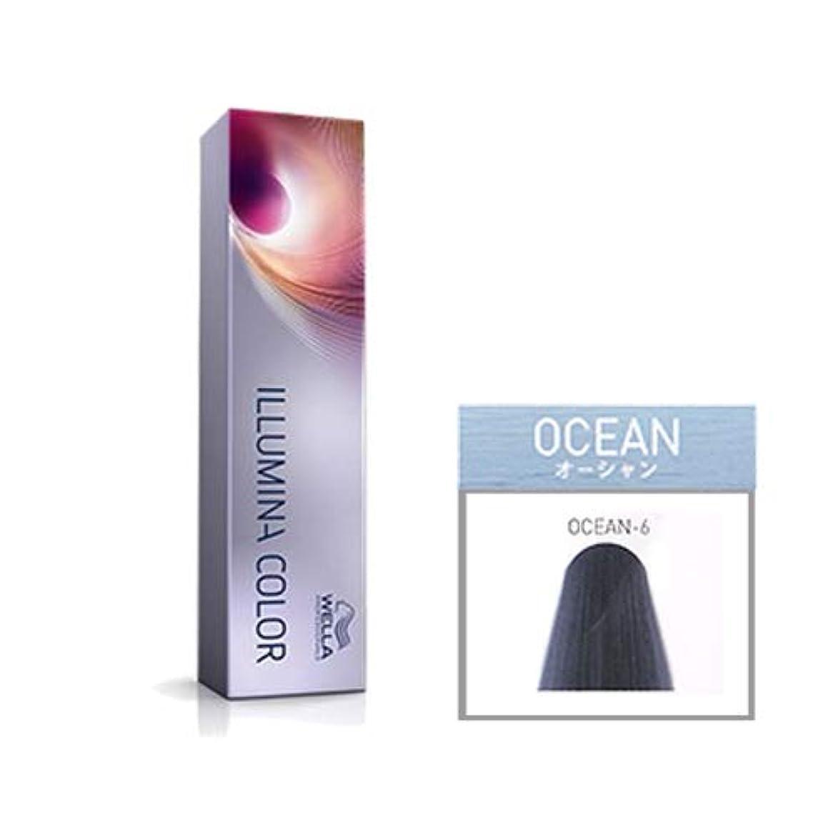 教授壮大な泣いているウエラ プロフェッショナル イルミナ カラー オーシャン OCEAN-6 80g