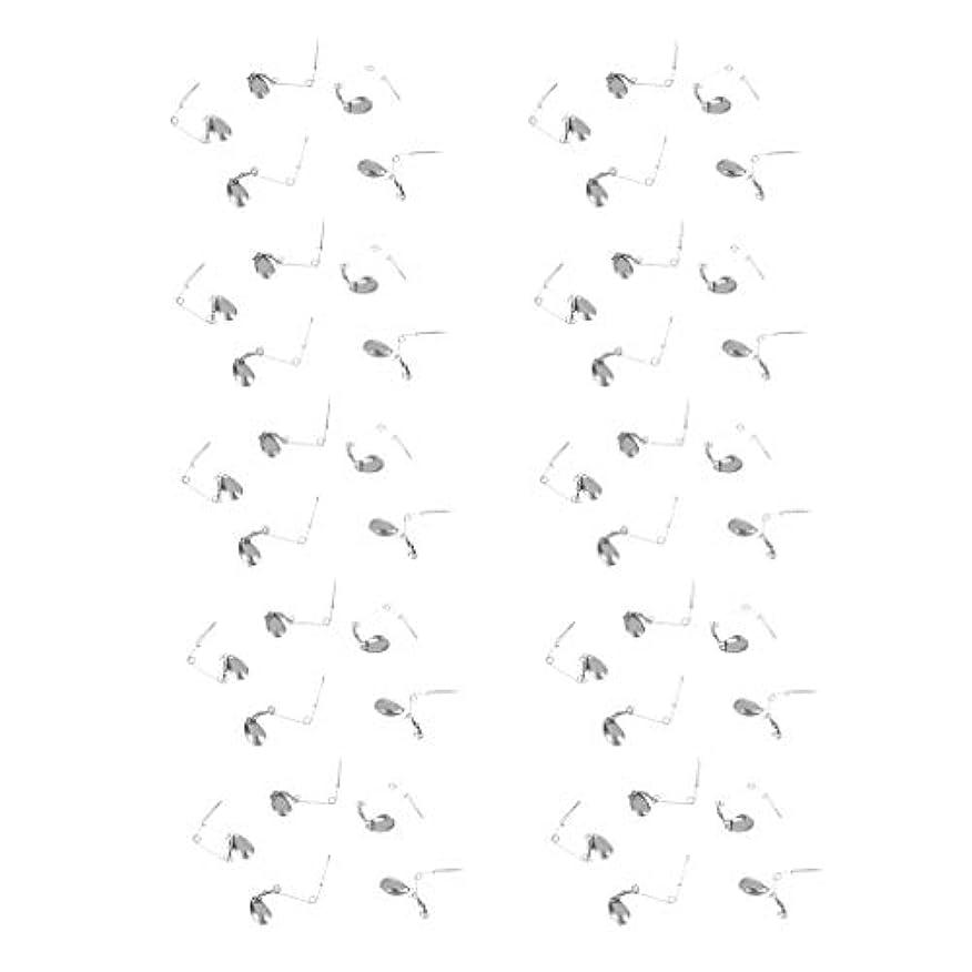 学ぶバリア助けてKESOTO 釣りルアー スプーン餌 ステンレス DIY 釣り道具 タックル 直径0.6mm 50本