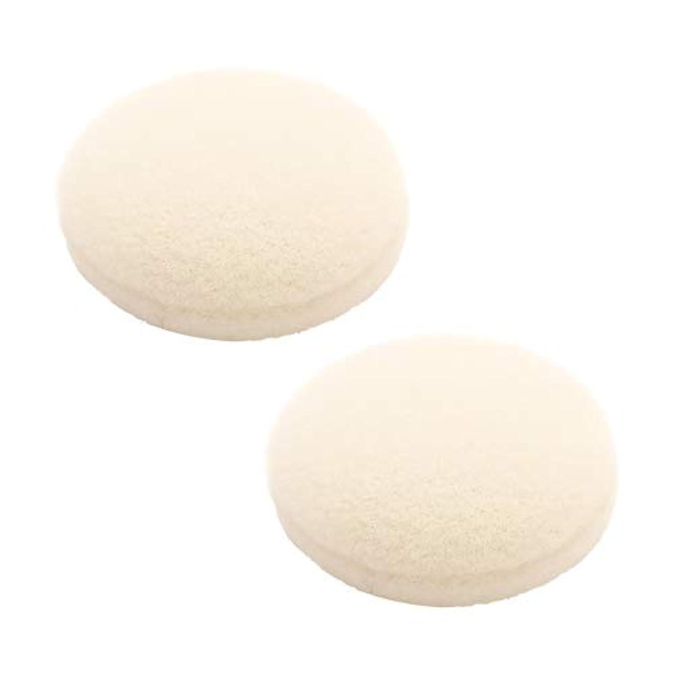 セラー平和な失業ETVOS(エトヴォス) ポンポンミネラルチーク専用替えパフ(2枚セット) 直径3.5cm 洗い替え 綿ビロード(綿天)
