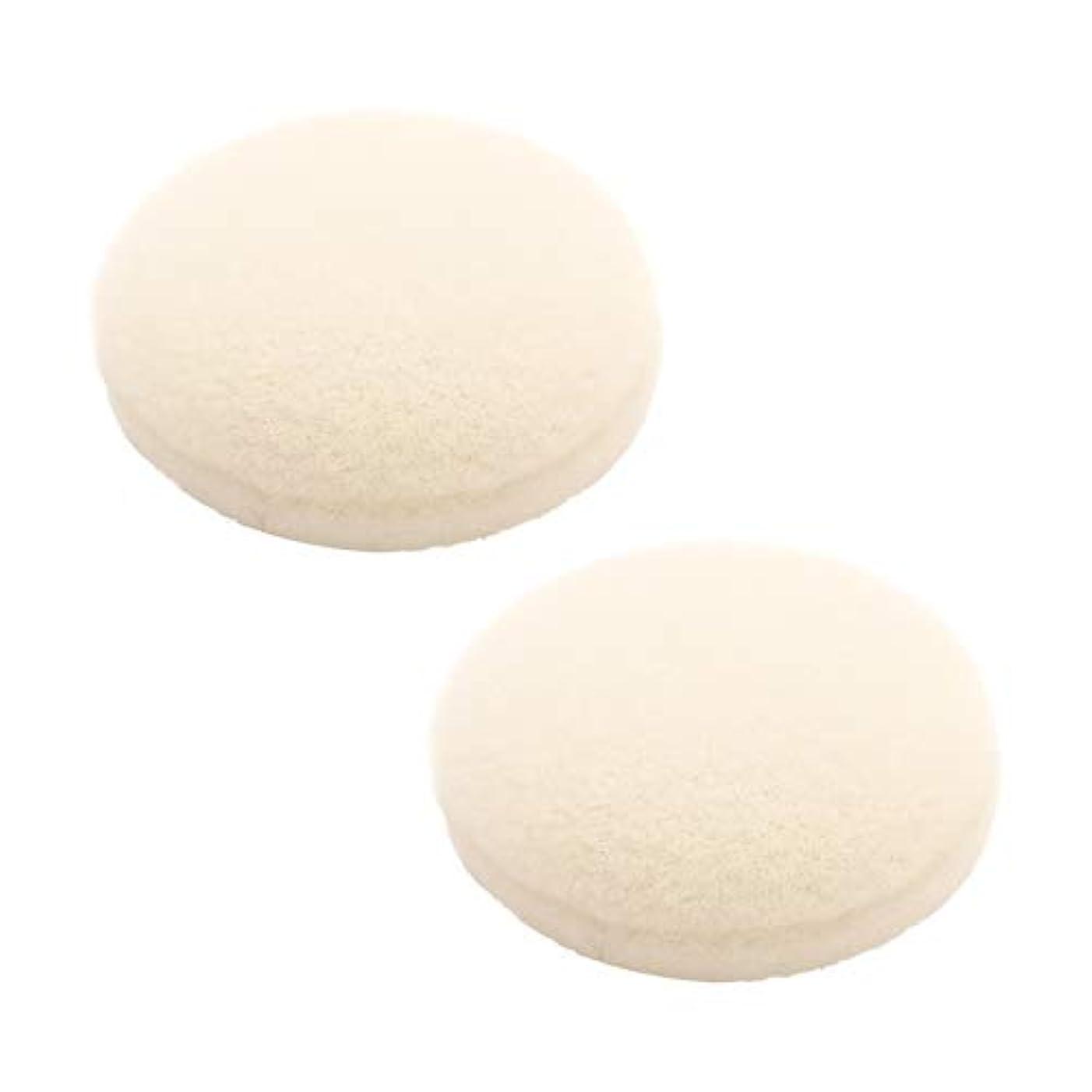 異形も注入ETVOS(エトヴォス) ポンポンミネラルチーク専用替えパフ(2枚セット) 直径3.5cm 洗い替え 綿ビロード(綿天)