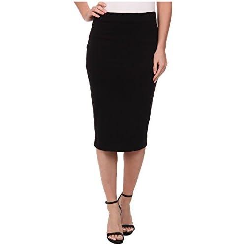 [スリードッツ] Three Dots レディース Pencil Skirt スカート Black MD (US 8-10) [並行輸入品]