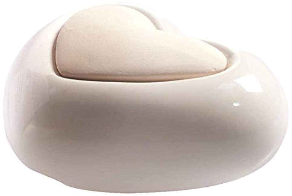 異常な精度私たち自身Millefiori HEART ルームフレグランス用 ハート型セラミックディフューザー ホワイト LDIF-CM-001