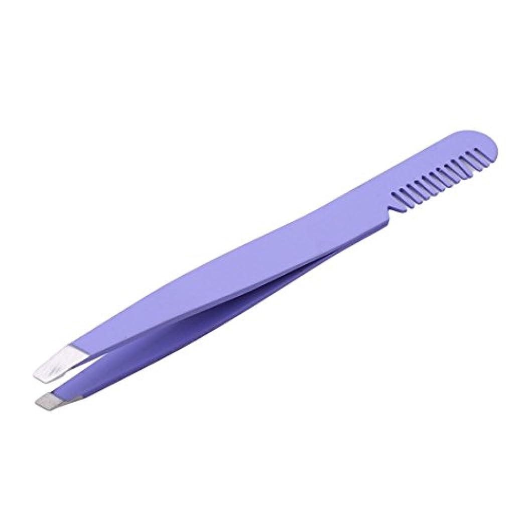 指偉業名誉あるKLUMA 眉毛抜き 眉毛クリップ 眉毛ピンセット アイブローニッパーズ  ステンレス製 櫛付き 使いやすい