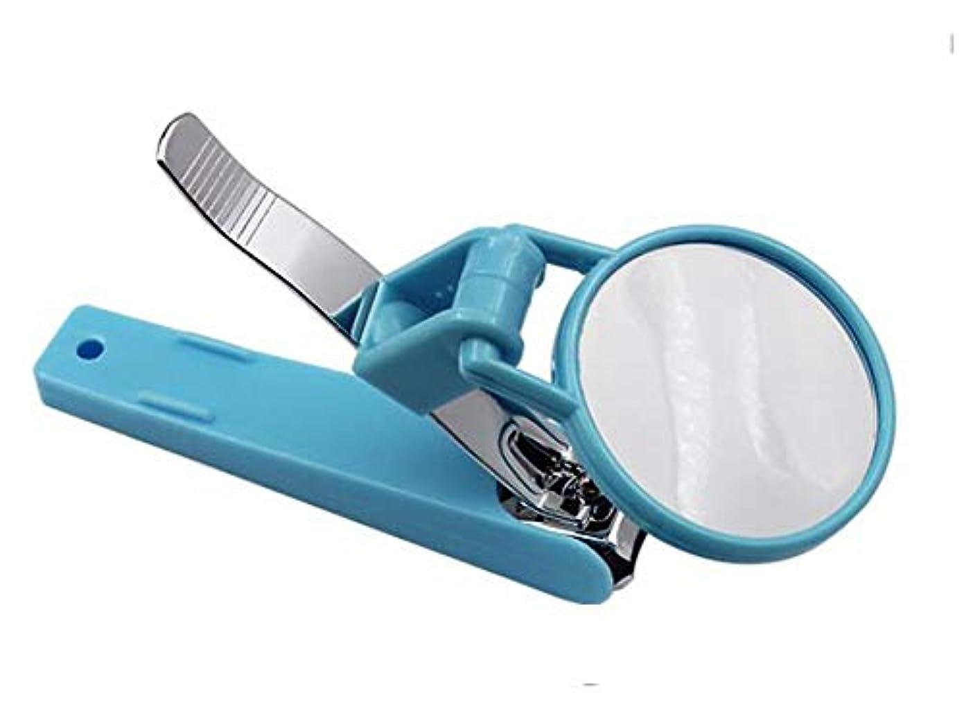 SZM ルーペ付き爪切り ネイルケア 高齢者向け 虫眼鏡 コンパクト 携帯便利 360度回転