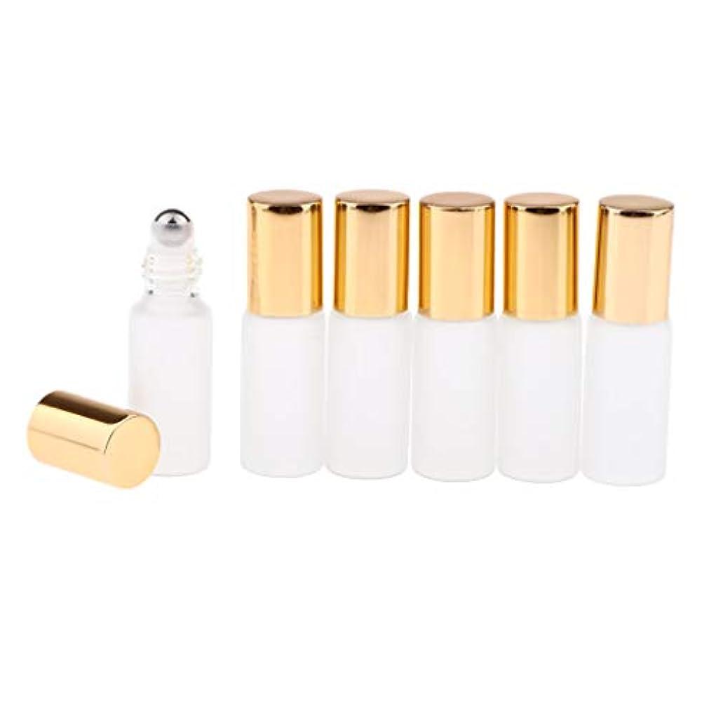 無力ロシア液体3色選ぶ ロールオンアロマボトル 小分けボトル 詰替え容器 漏れ防止 ガラス製空のボトル 6本セット - ゴールド