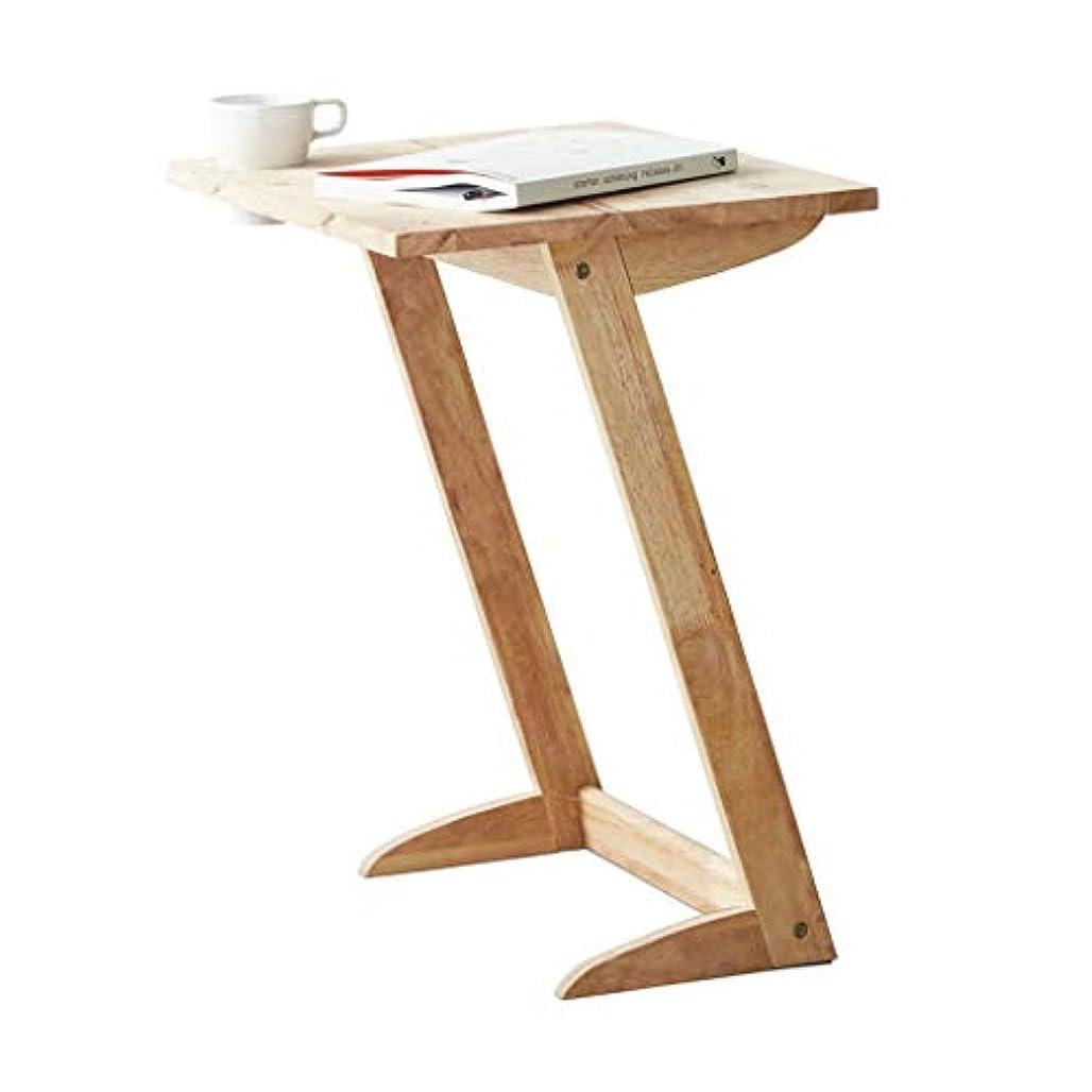 プログラムポルノパイプライン表コーヒーテーブルクリエイティブソファサイドテーブル棚コーヒーテーブルZ字型のコーヒーテーブルシンプルなサイド (Color : BEIGE, Size : 50*40*61CM)