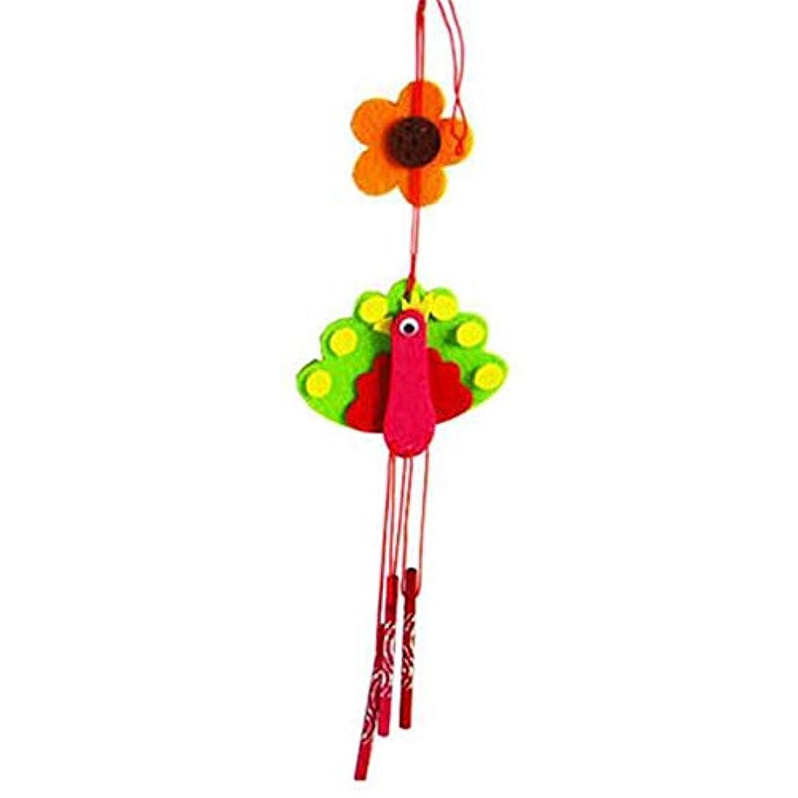 密郵便局闘争Hongyuantongxun 風チャイム、クリエイティブ手作りDIY生産資材パッケージ風チャイム、パープル、全身について35CM,、装飾品ペンダント (Color : Green)