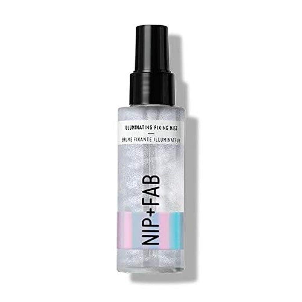 フロントデザイナーサーキットに行く[Nip & Fab ] 固定ミスト100ミリリットルを照らす作るFab +ニップ - Nip+Fab Make Up Illuminating Fixing Mist 100ml [並行輸入品]
