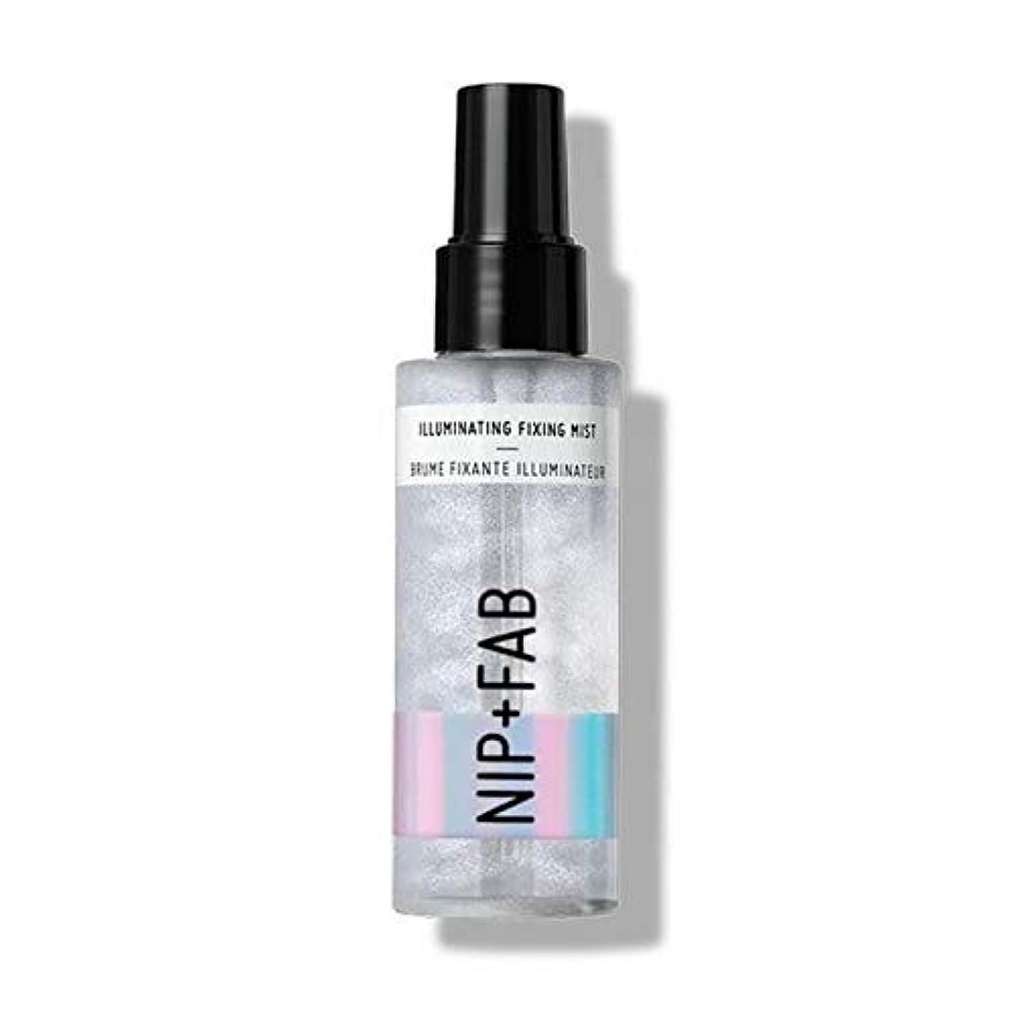 ラメ約束する曲げる[Nip & Fab ] 固定ミスト100ミリリットルを照らす作るFab +ニップ - Nip+Fab Make Up Illuminating Fixing Mist 100ml [並行輸入品]