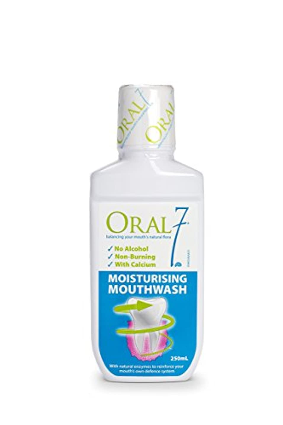 凍結浮浪者セールオーラル7 モイスチャライジング マウスウォッシュ 250ml 4種の天然酵素配合!お口の乾燥対策に 口腔内保湿 口臭予防 ノンアルコール 口腔ケア
