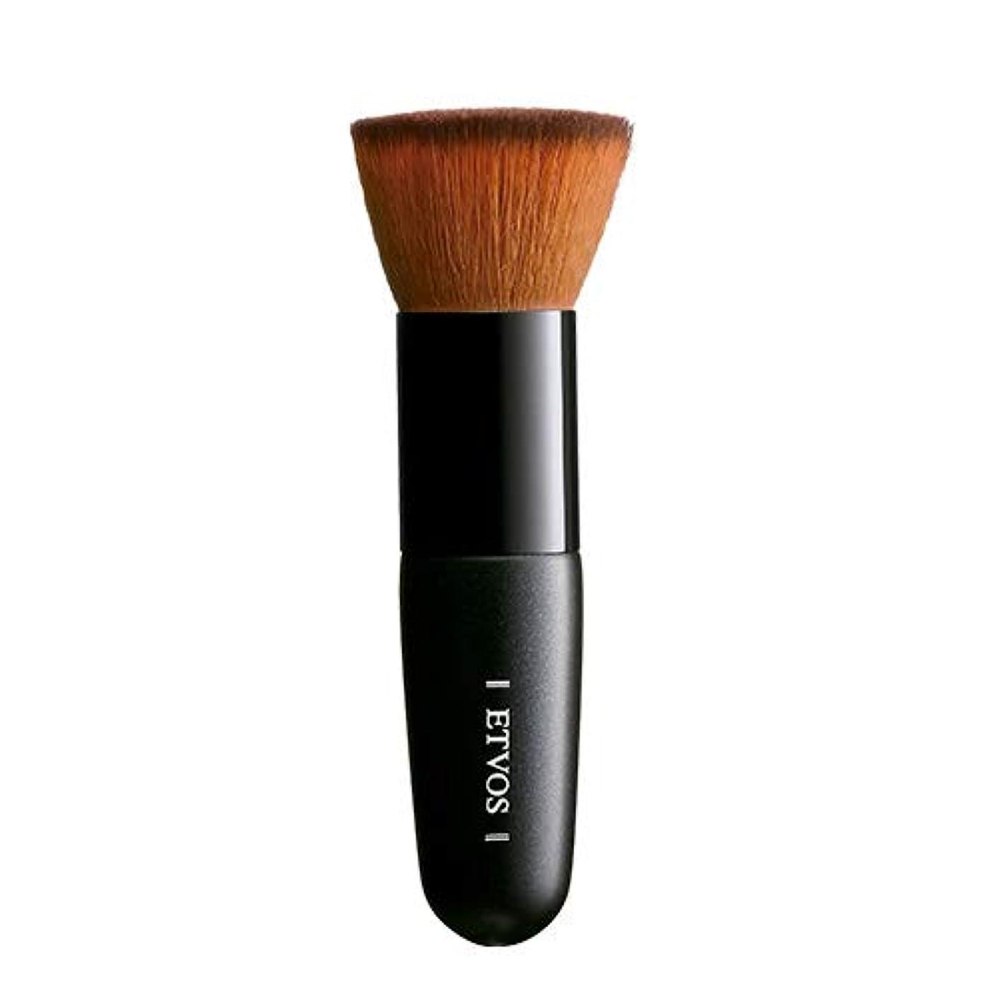 黒くするフェリー透明にETVOS(エトヴォス) フラットトップブラシ 扱いやすい垂直カット/メイクブラシ 高級タクロン/化粧筆 10cm