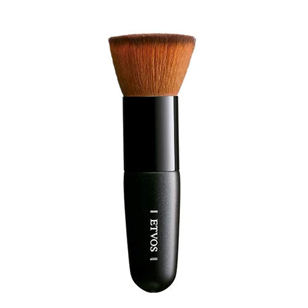 名誉あるモンキー収容するETVOS(エトヴォス) フラットトップブラシ 扱いやすい垂直カット/メイクブラシ 高級タクロン/化粧筆 10cm