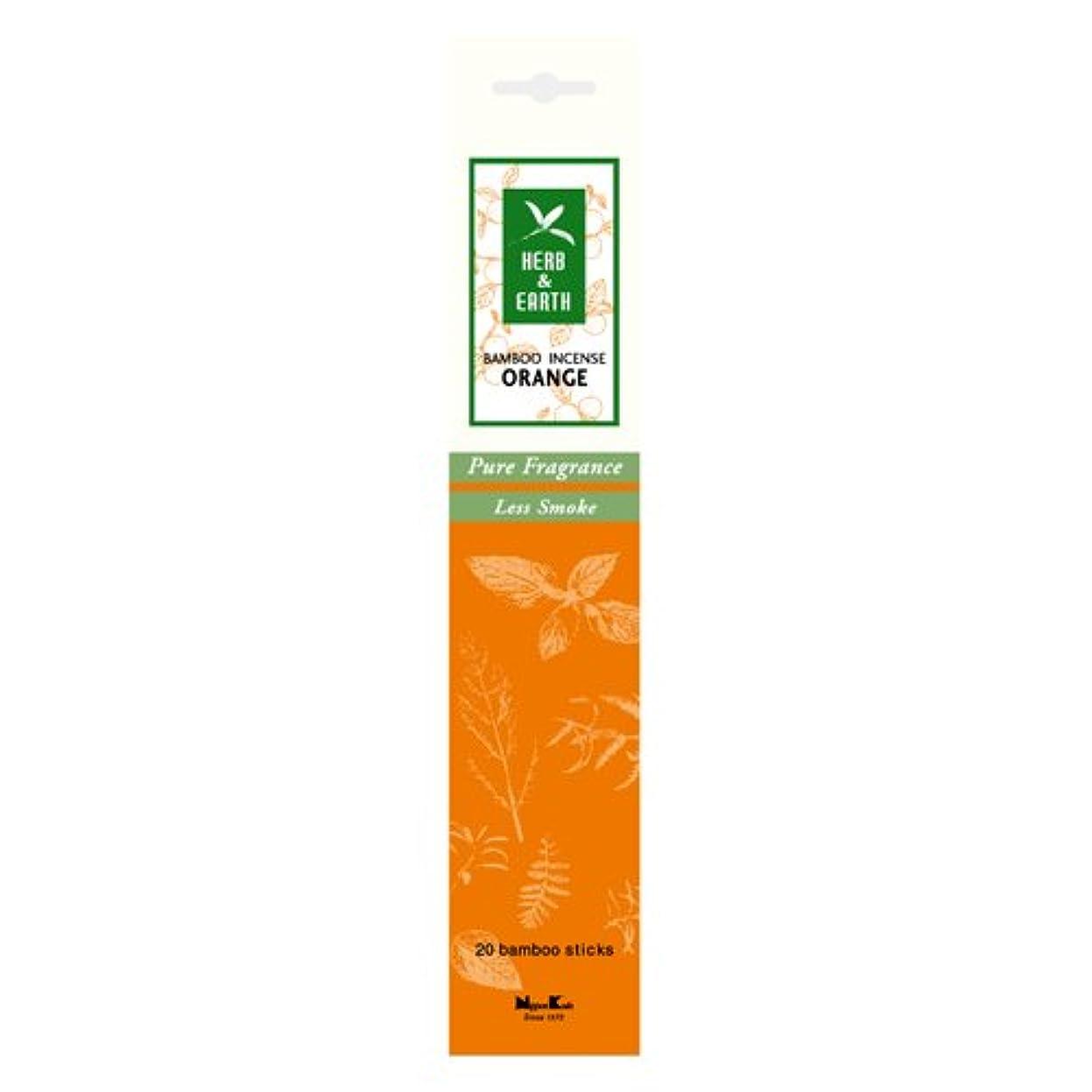 魅力的であることへのアピール層常にHERB&EARTH BambooIncense オレンジ スティック 【お香】