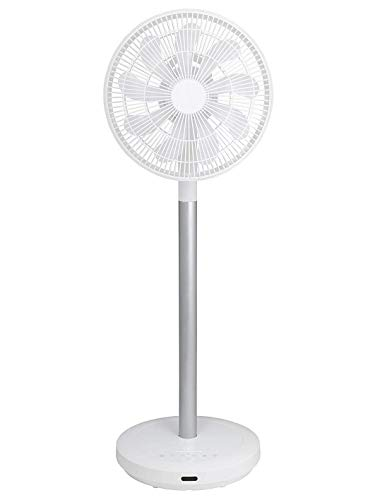 【Amazon.co.jp限定】山善 扇風機 アレクサ(ALEXA)対応 30cm リビング扇 静電式タッチスイッチ 風量8段階調節 室温センサー DCモーター搭載 リモコン付き ホワイト AHX-ALD30(W)