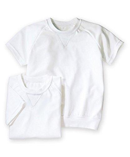 体操服 丸首・半袖 体操服シャツ2枚組 ニッセン nissen 白 150