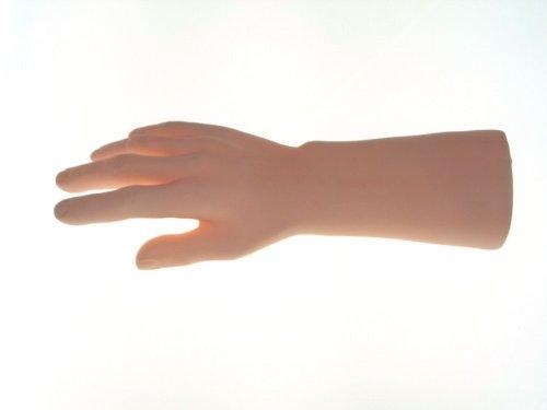 手の模型 男性 実物大 薄い肌色