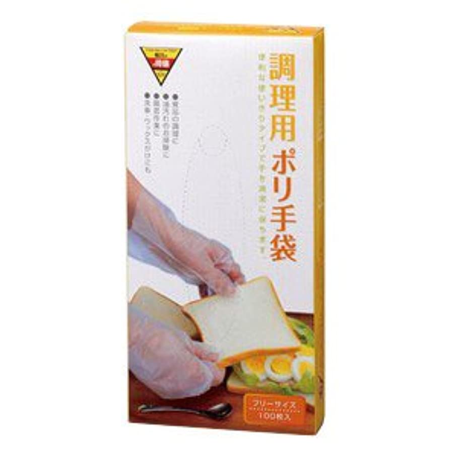イブ国勢調査トラフコーナンオリジナル 調理用ポリ手袋 100枚入 KHD05-7123
