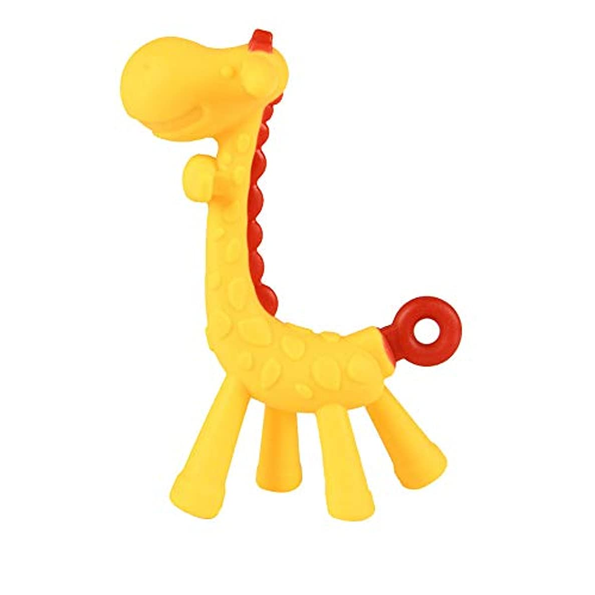 夢添加発明歯科研修シリコーン一口乳歯スティック漫画のキリンソフトおもちゃかわいい黄色のベビー用品