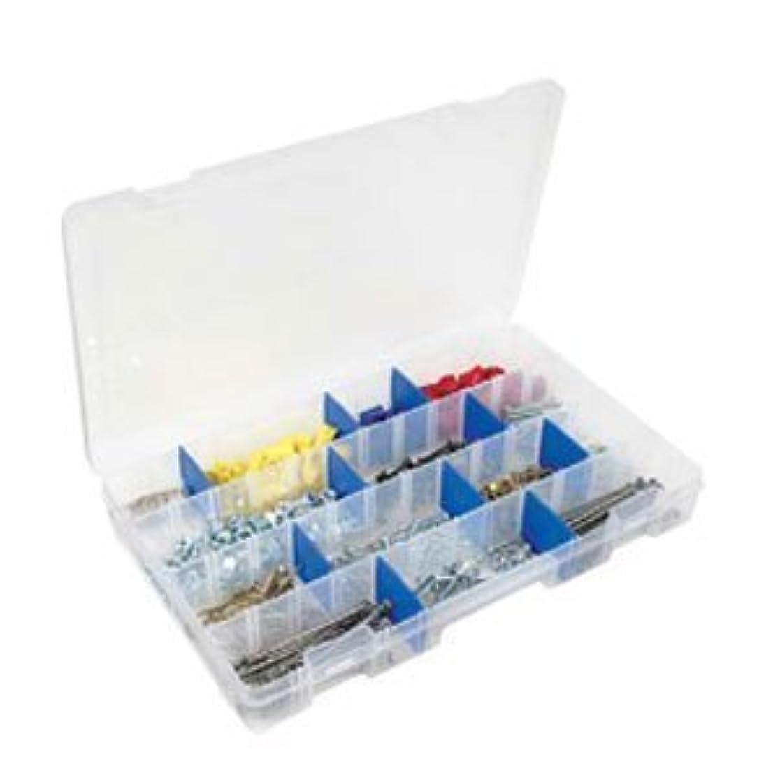 電気的ゴージャス無Flambeau 5004 Tuff Tainer See-Through Storage Box, 4 Fixed Compartments, 15 Zerust Dividers